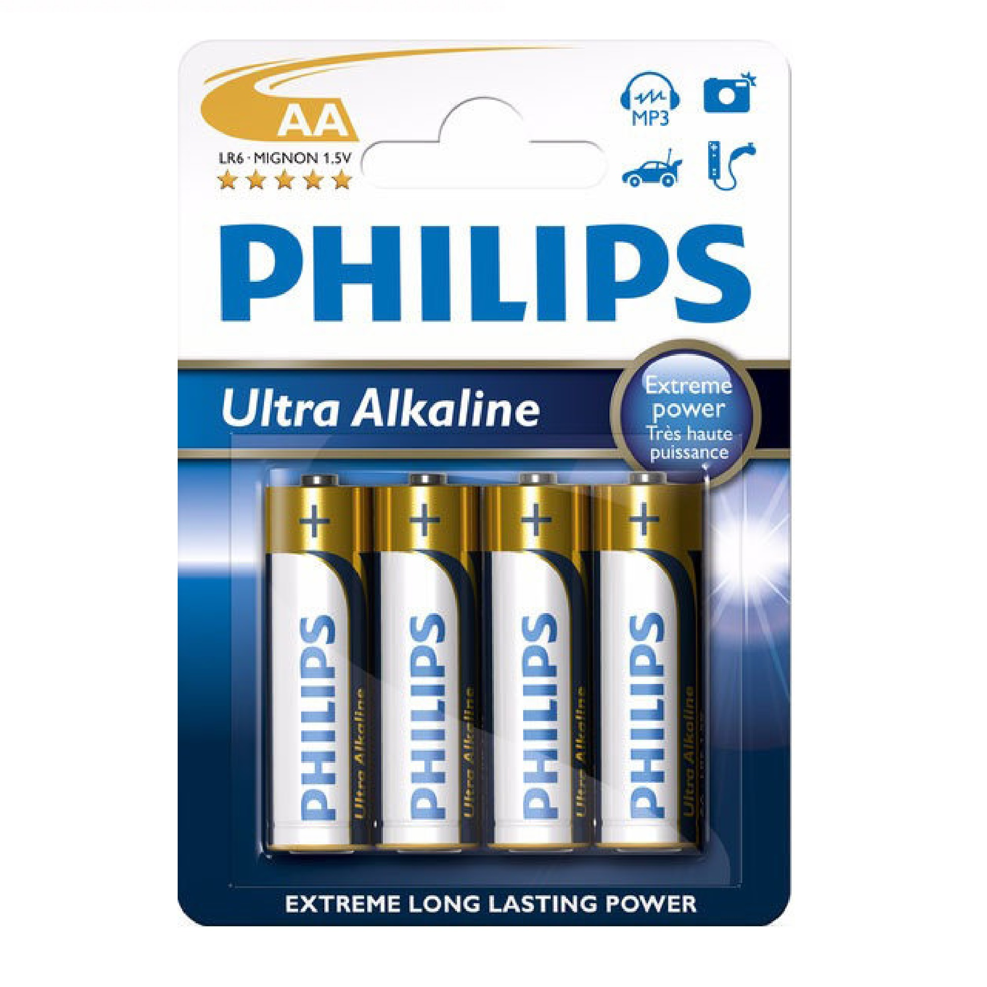 detail Baterie Philips AA Extremelife
